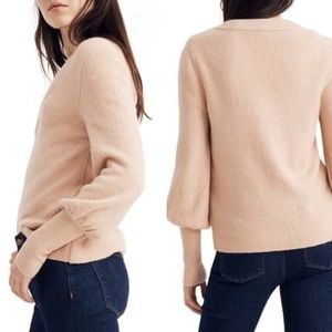 Madewell Dashwood Dusty Shell V-Neck Sweater